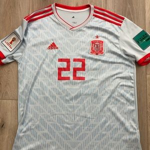 Isco 2018 Spain World Cup Jersey w patches -Large